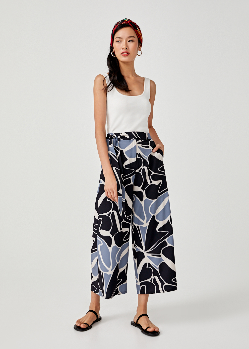 Thara Printed Crop Pants