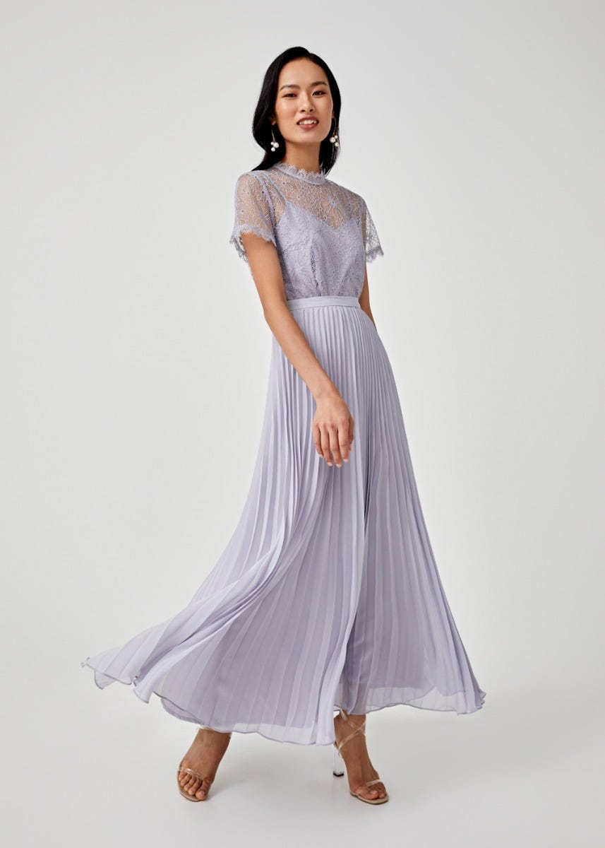 Sorella Pleated Maxi Skirt