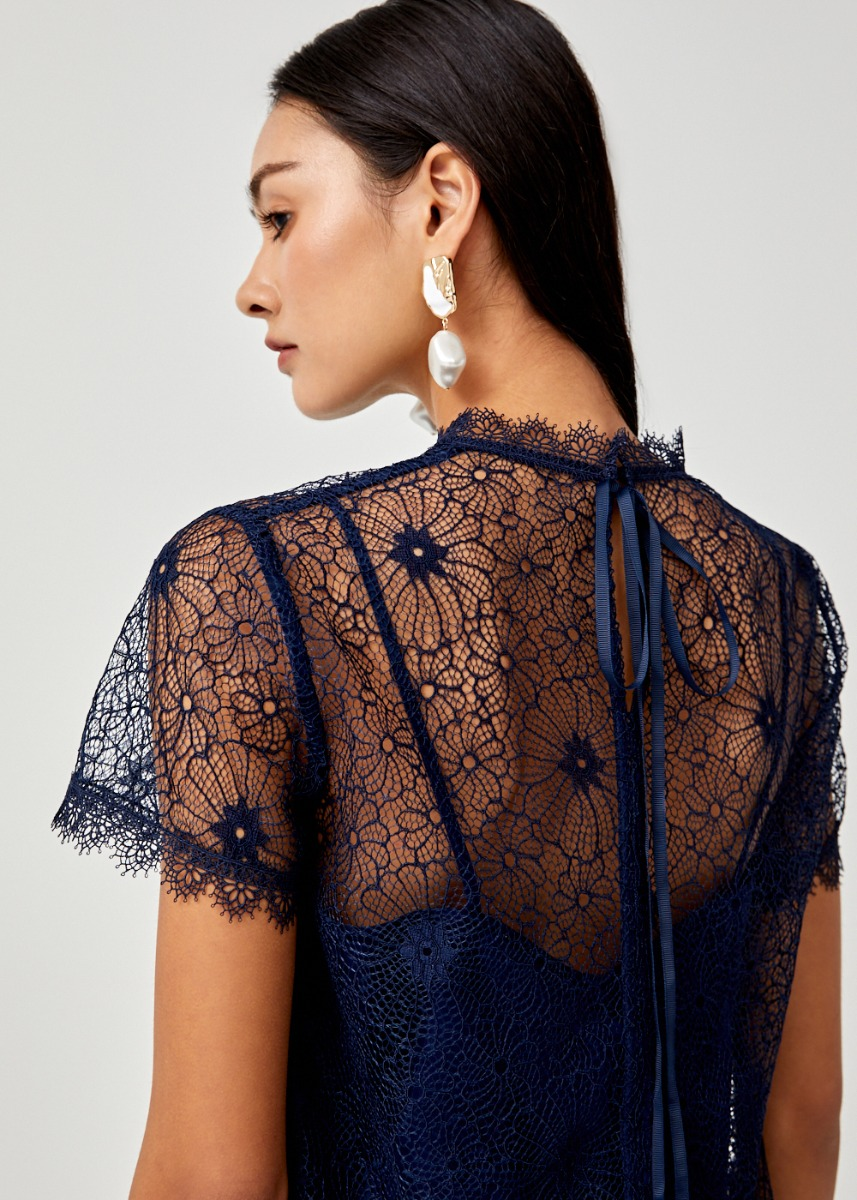 Marin Lace Overlay Top