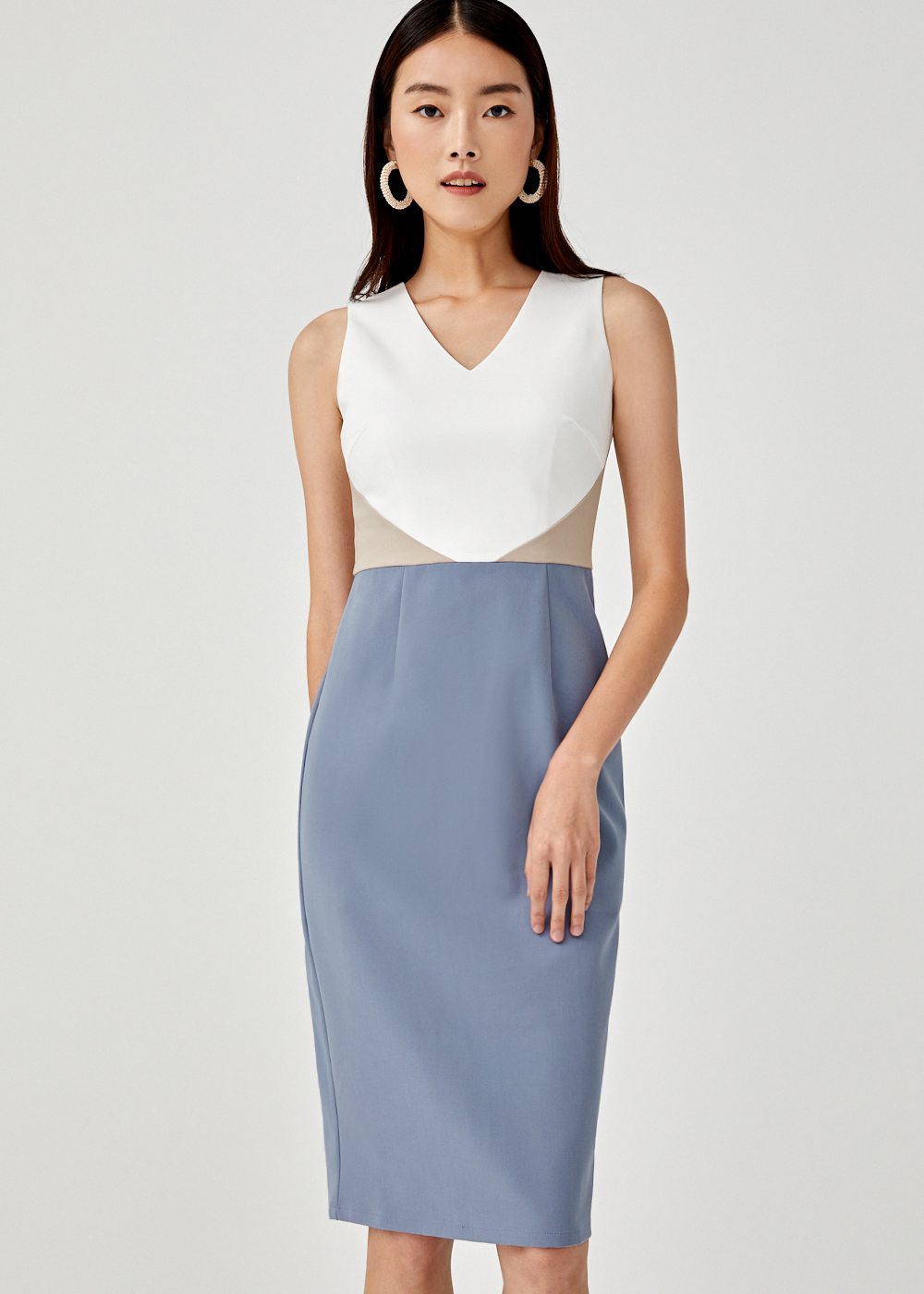 Jaelynn Colourblock Pencil Dress