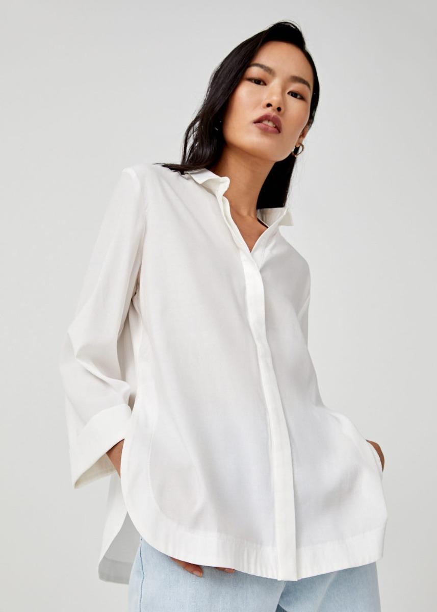 Lidia Curved Hem Shirt
