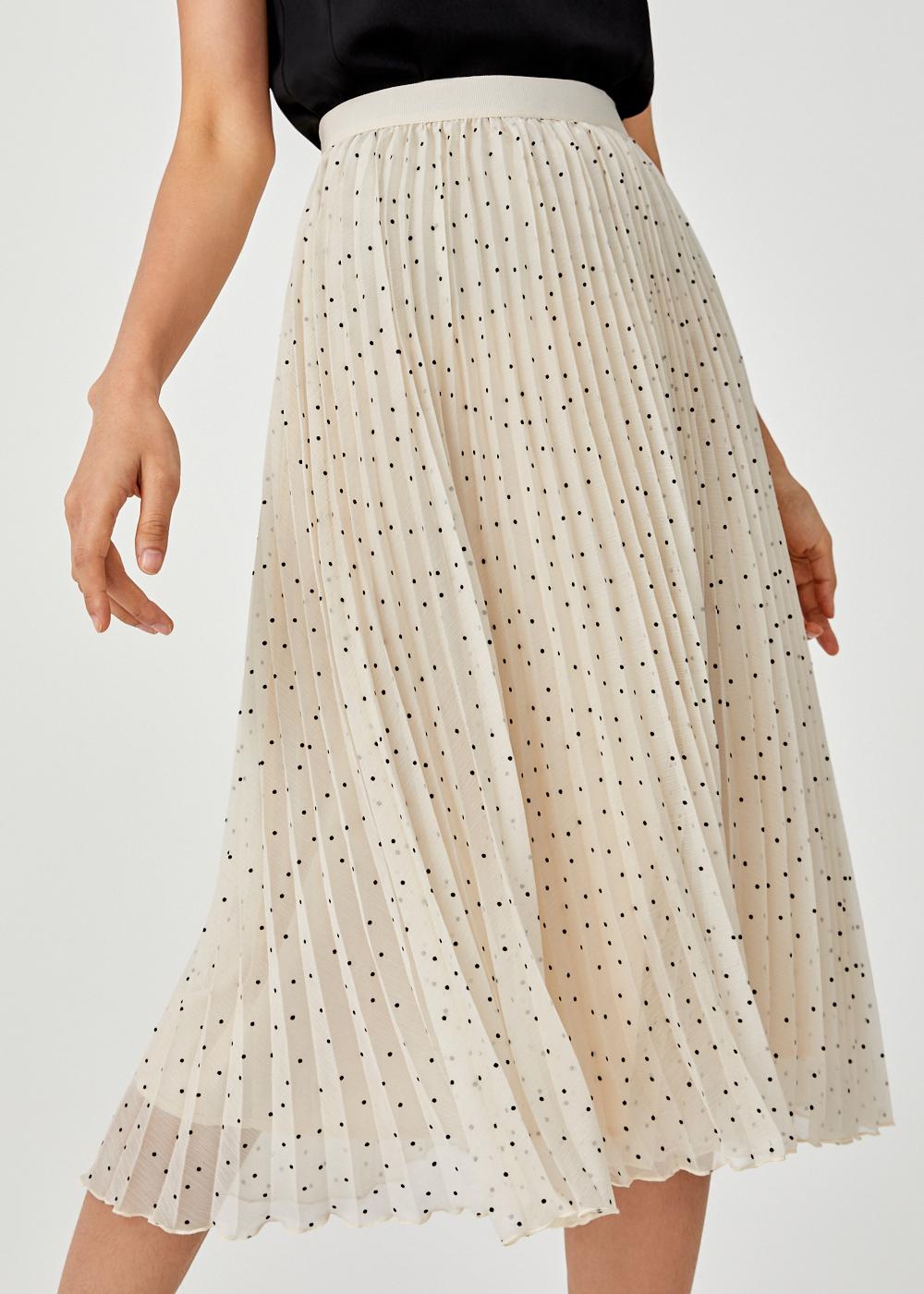 Avie Pleated Midi Skirt