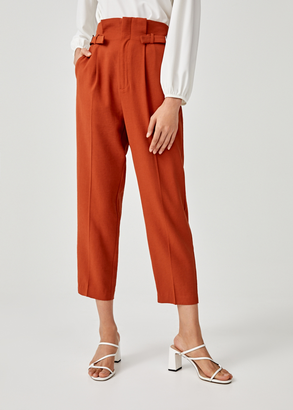 Ada Pleated Side Buckle Pants