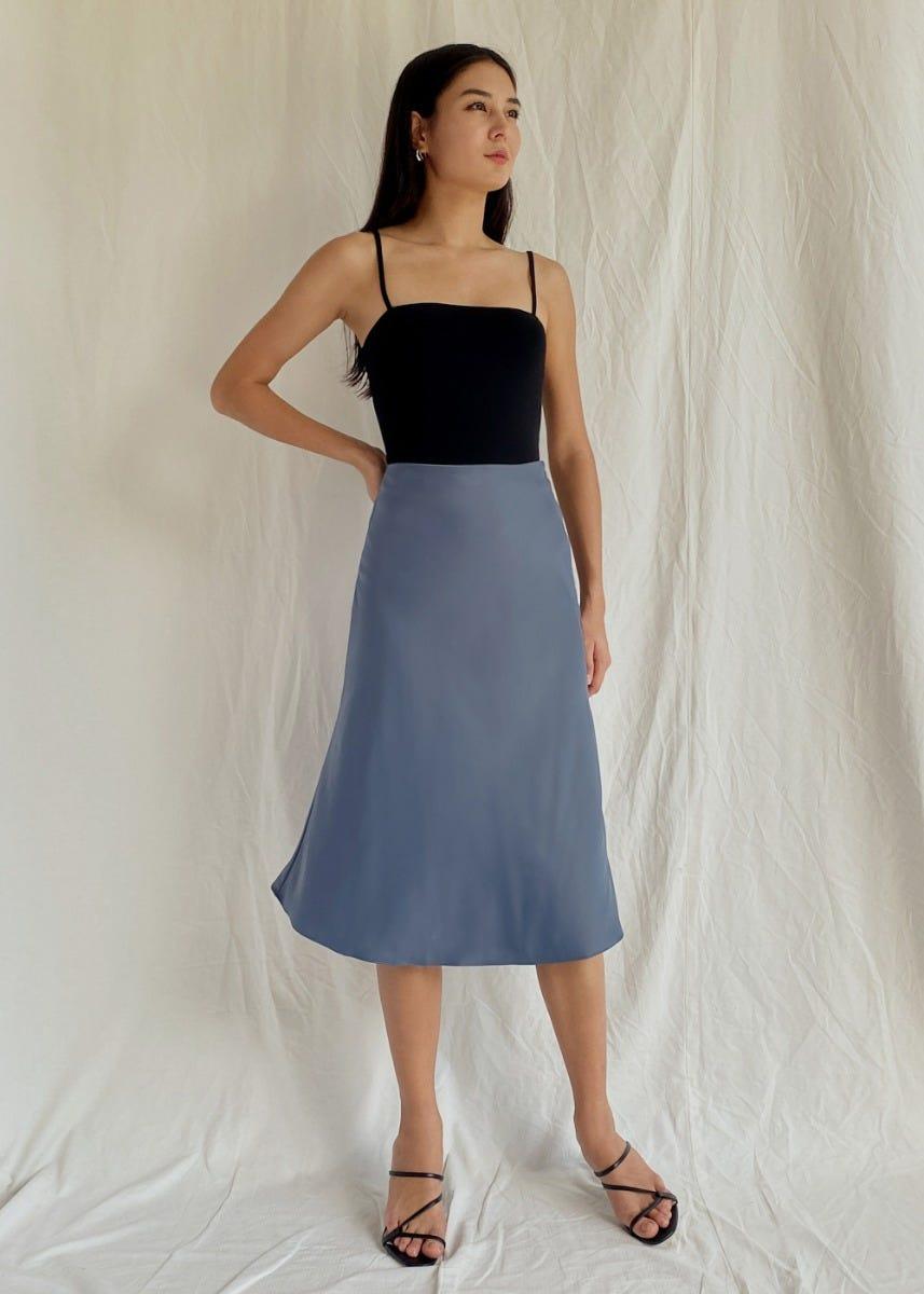 Sabrina Satin Slip Skirt