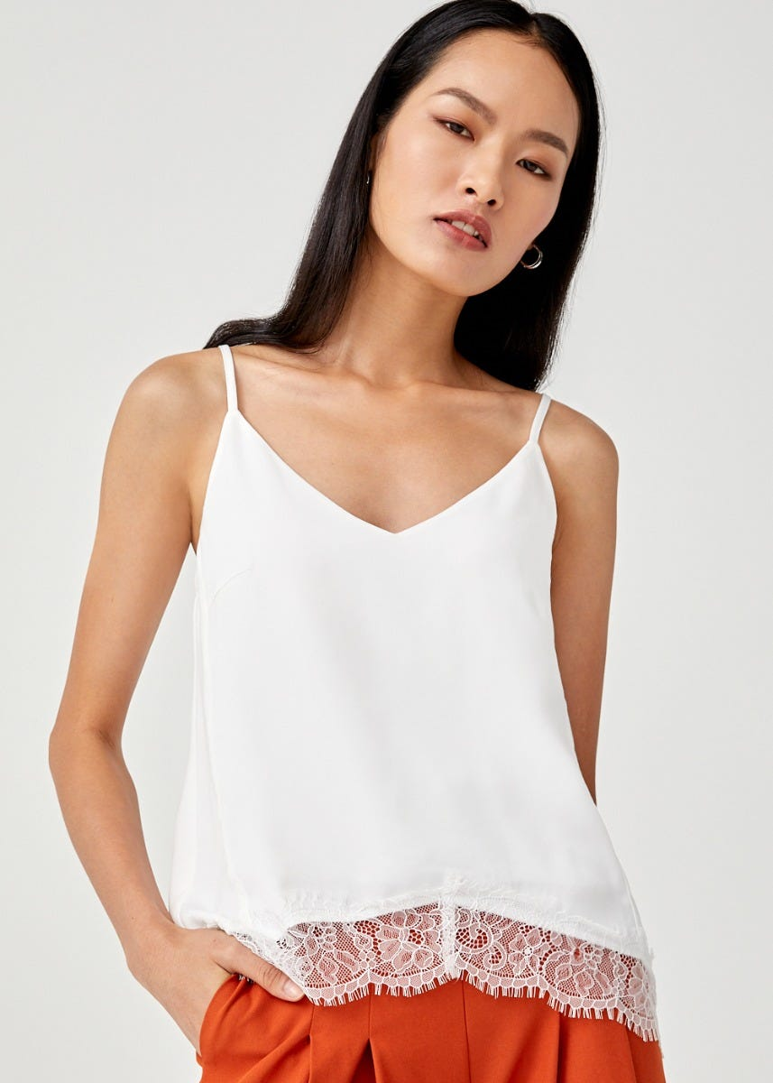 Oakley Lace Trim Camisole Top
