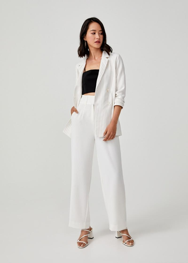 Yzelle Double Breasted Sash Tie Blazer