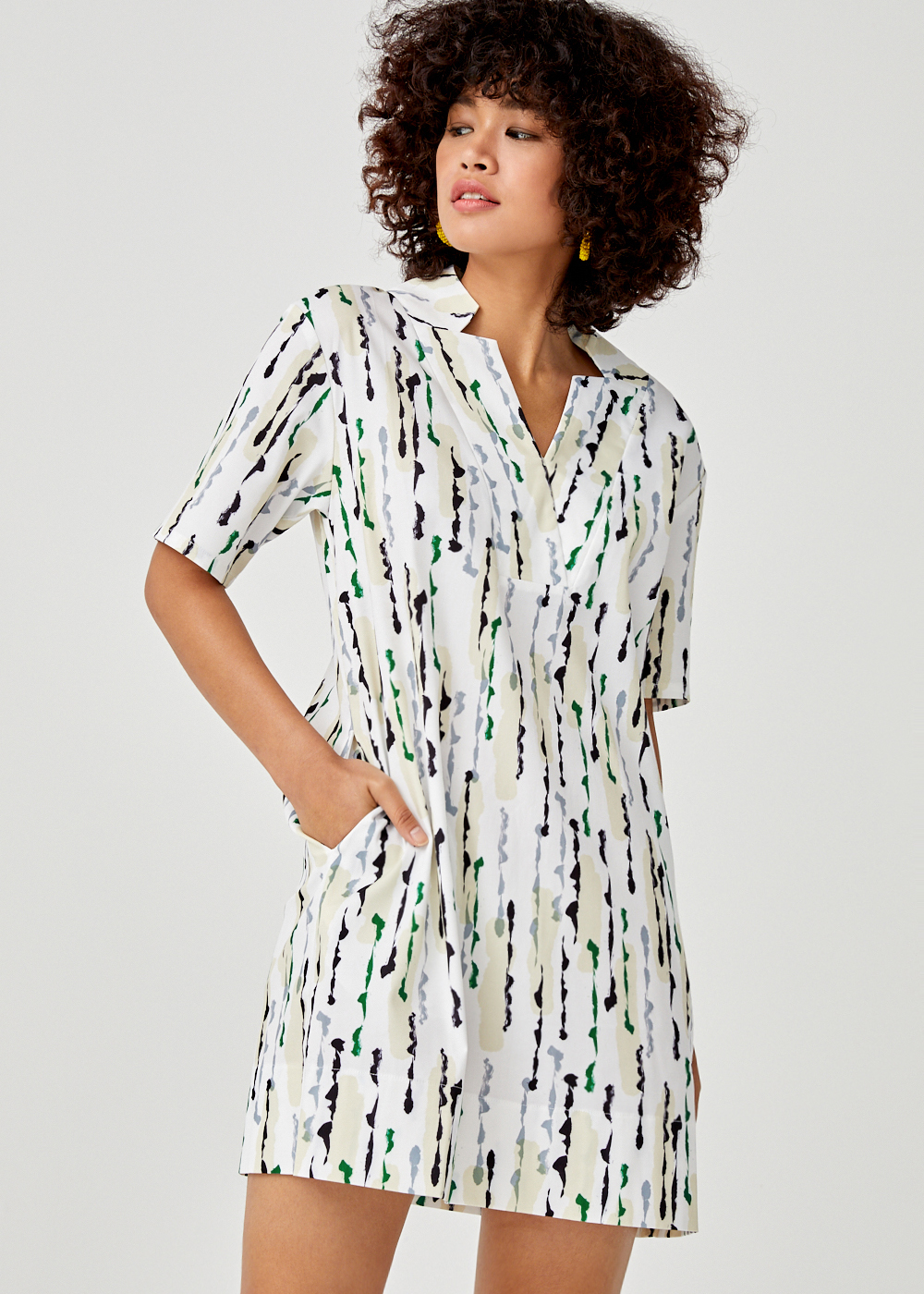 Liana Shift Dress in Afternoon Drizzle