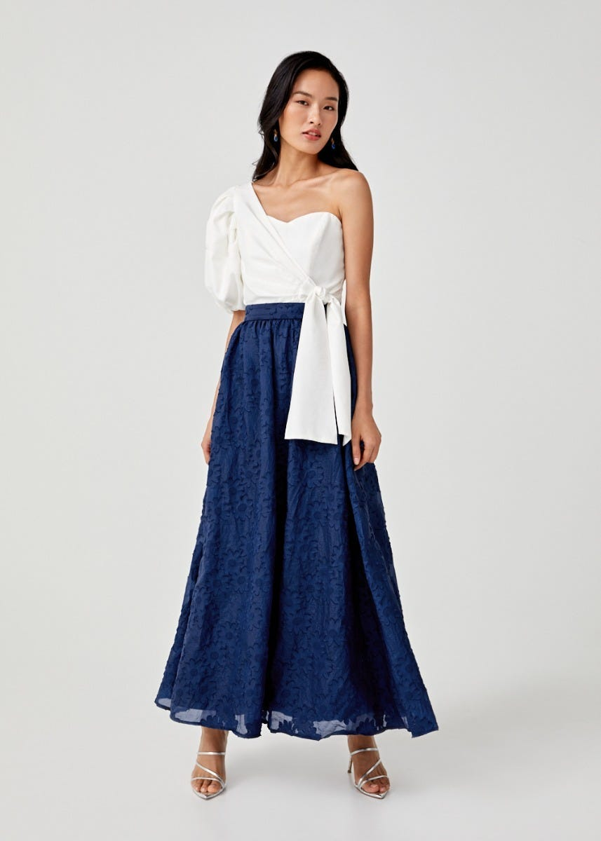 Angelica Jaquard Maxi Skirt