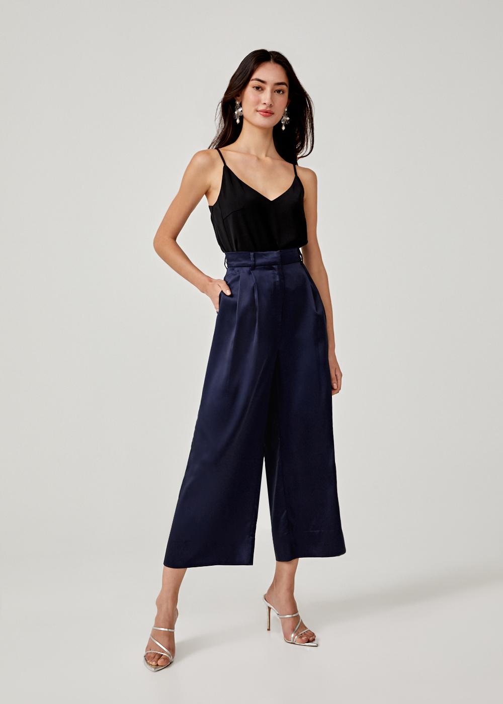 Magdalena Satin Wide Leg Pants