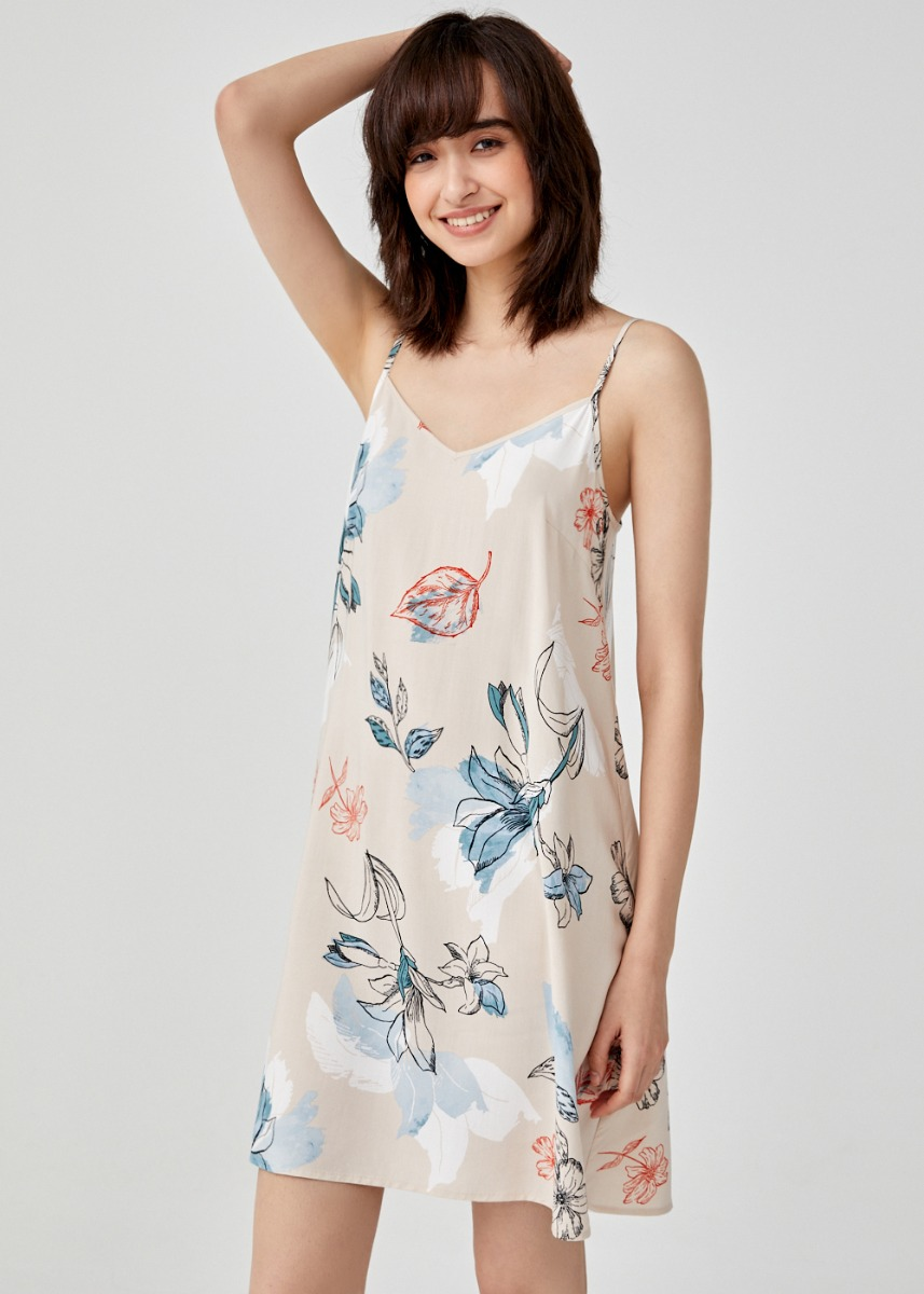 Holley Camisole Slip Dress in Chamomile Dream