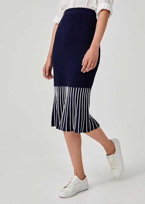 Dalia Peplum Knit Skirt