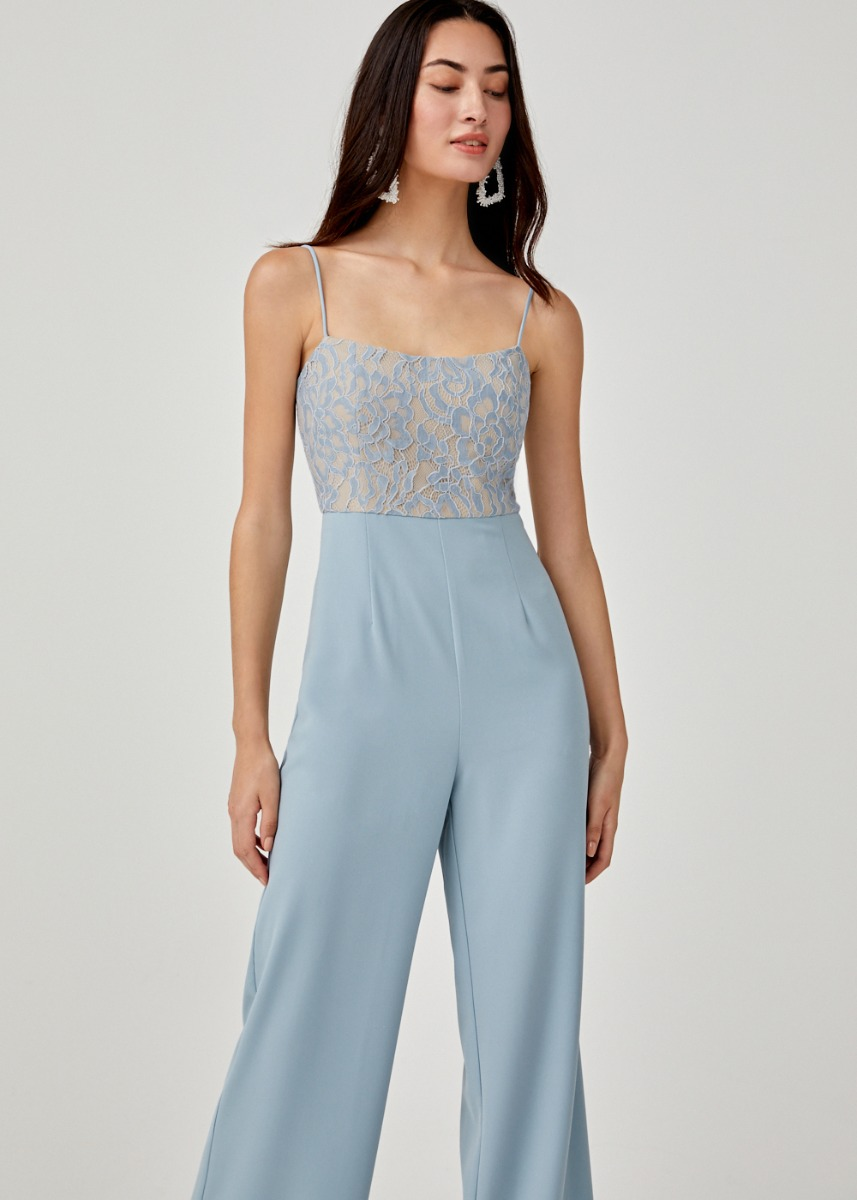 Lenna Lace Overlay Jumpsuit