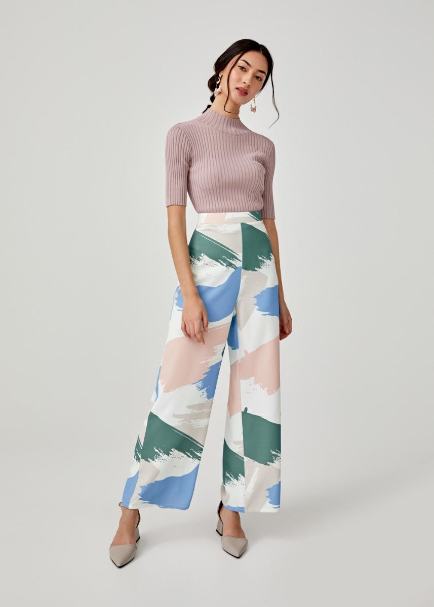 Zephyra Straight Leg Pants in Artful Delight