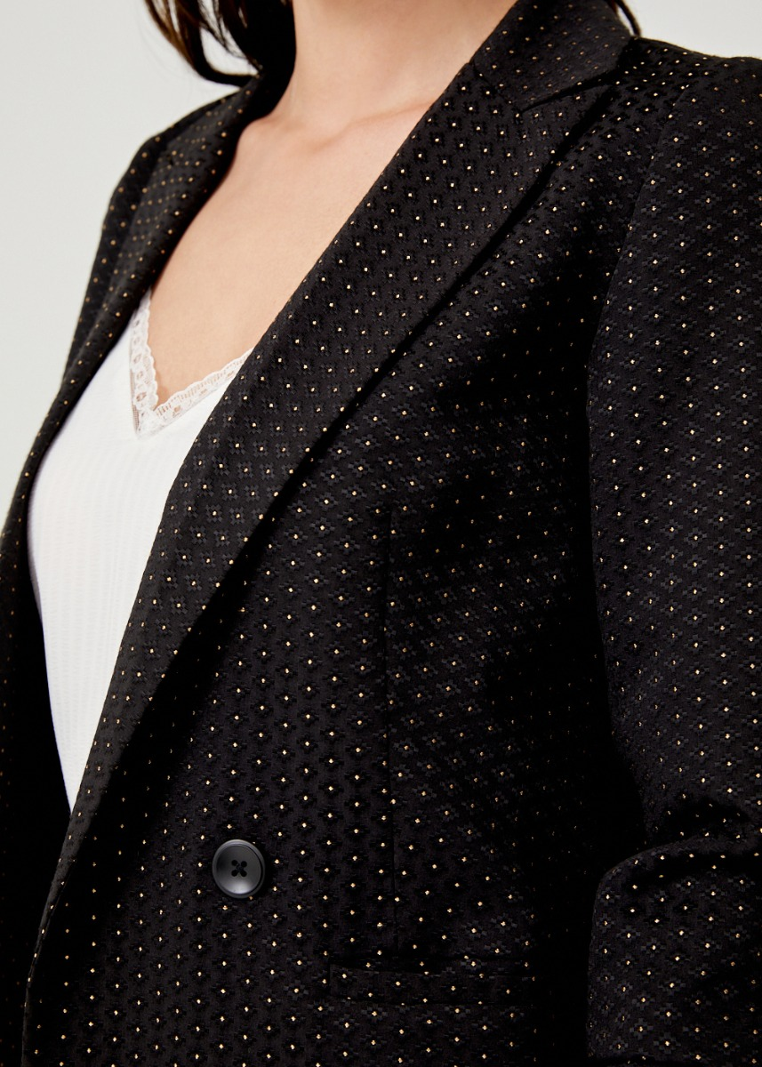 Elidi Tailored Jacquard Blazer