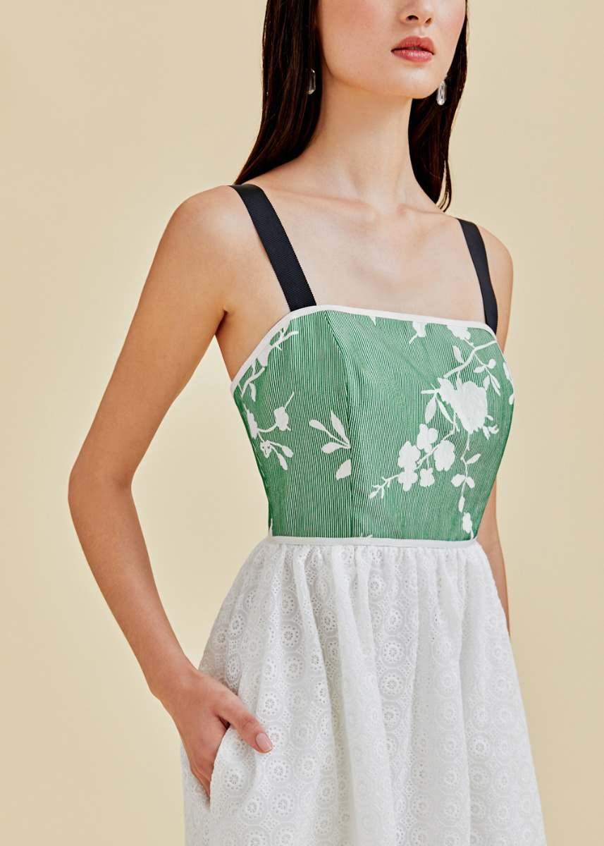 Calliah Jacquard Camisole Dress