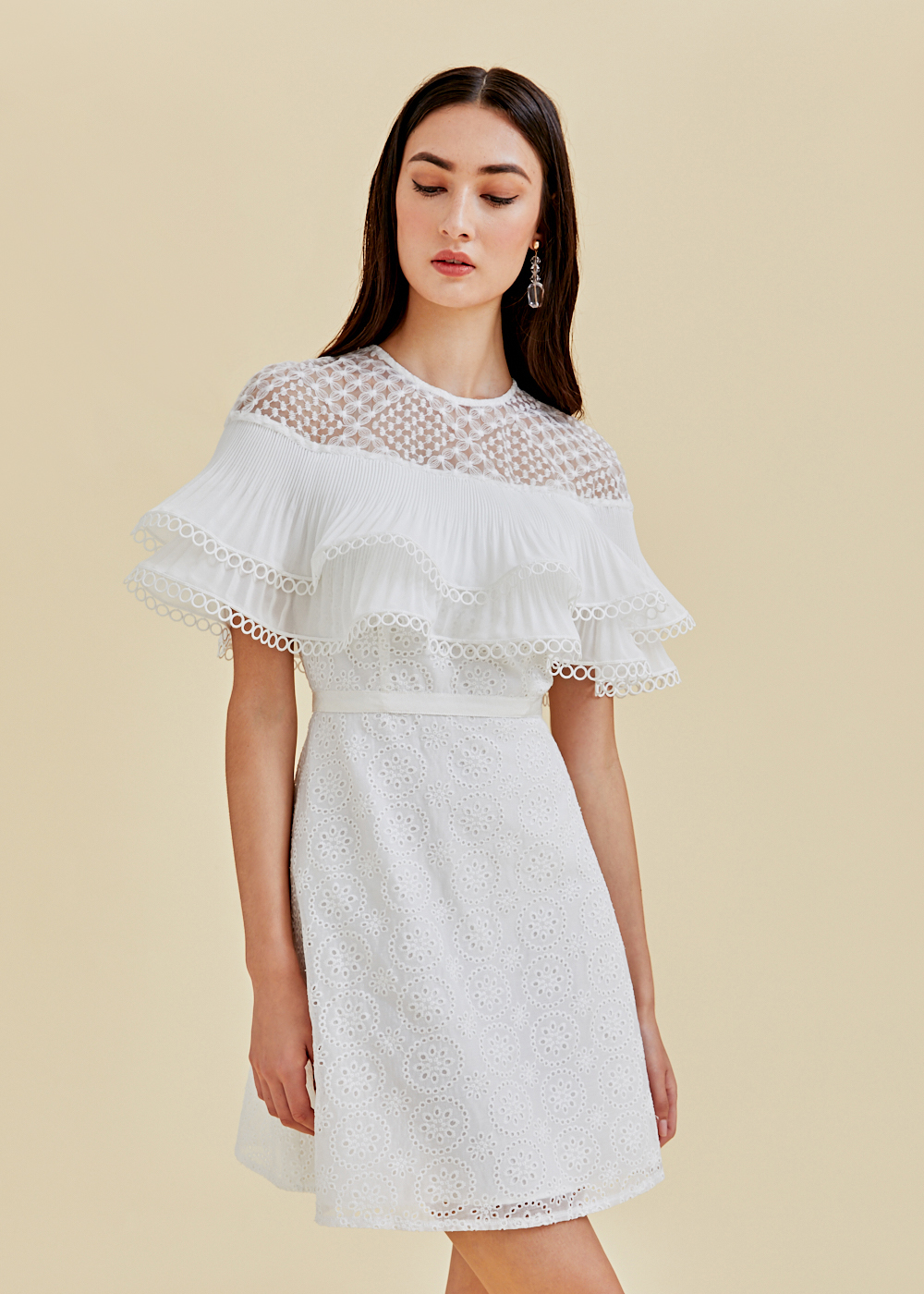 Anthea Tiered Broderie Anglaise Dress