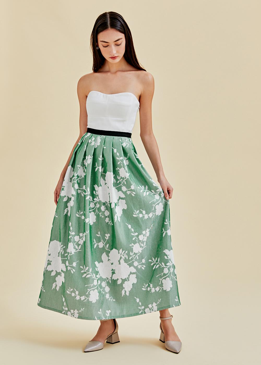 Aliz Jacquard Maxi Skirt