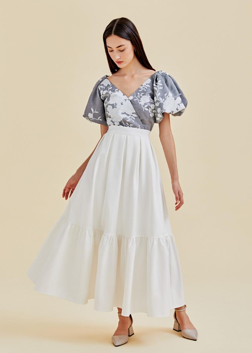 Lexia Flare Hem Maxi Skirt