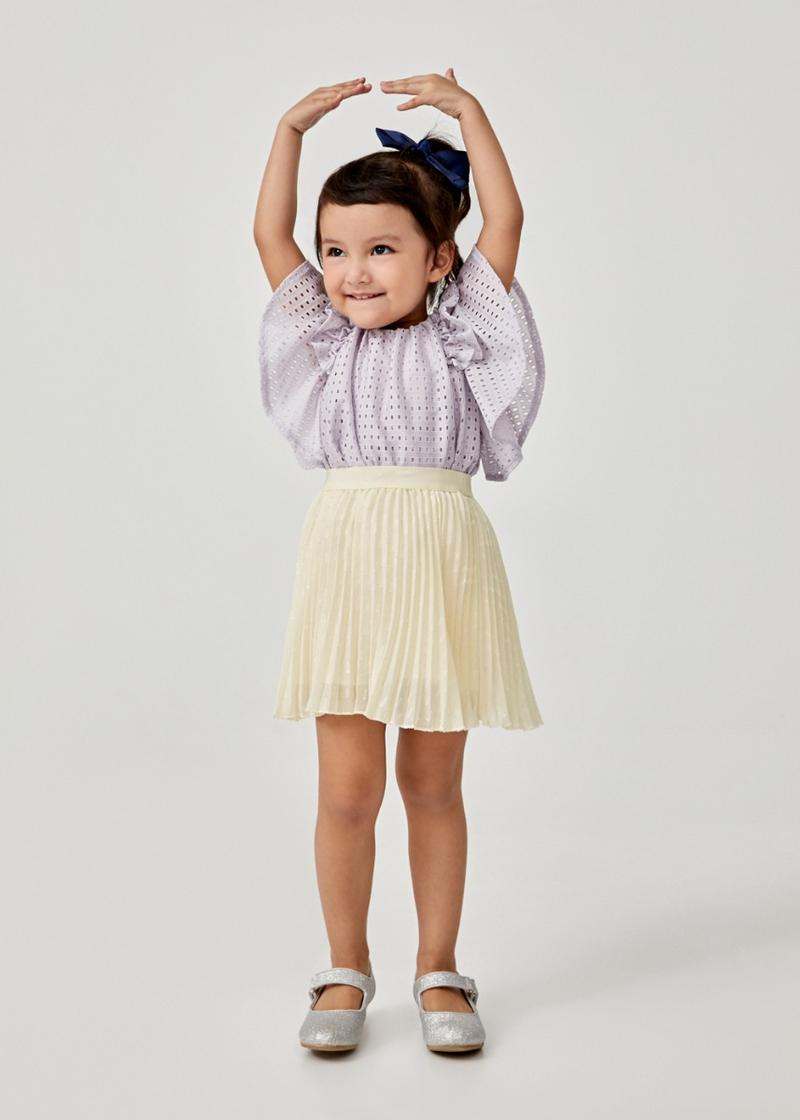 Anastacia Pleated Jacquard Skirt