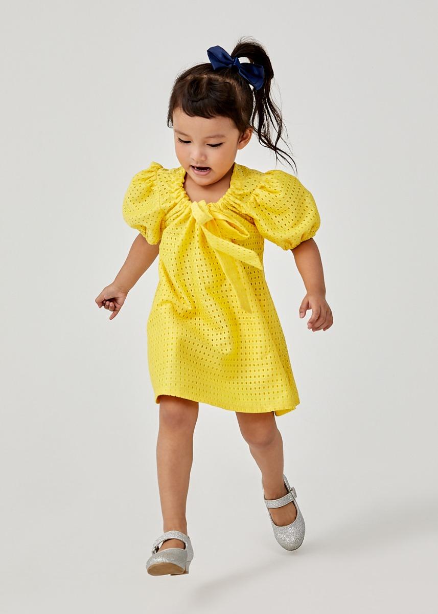 Calista Reversible Puff Sleeve Dress
