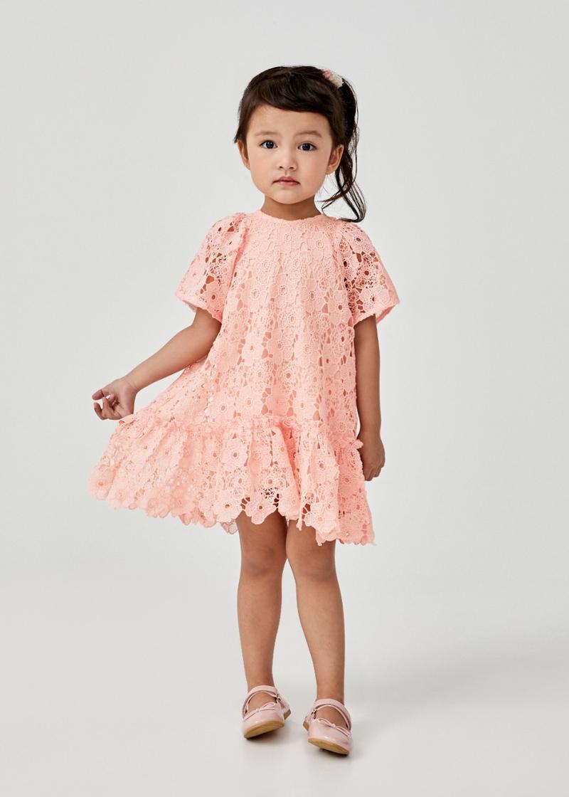 Hebie Lace Puff Sleeve Dress