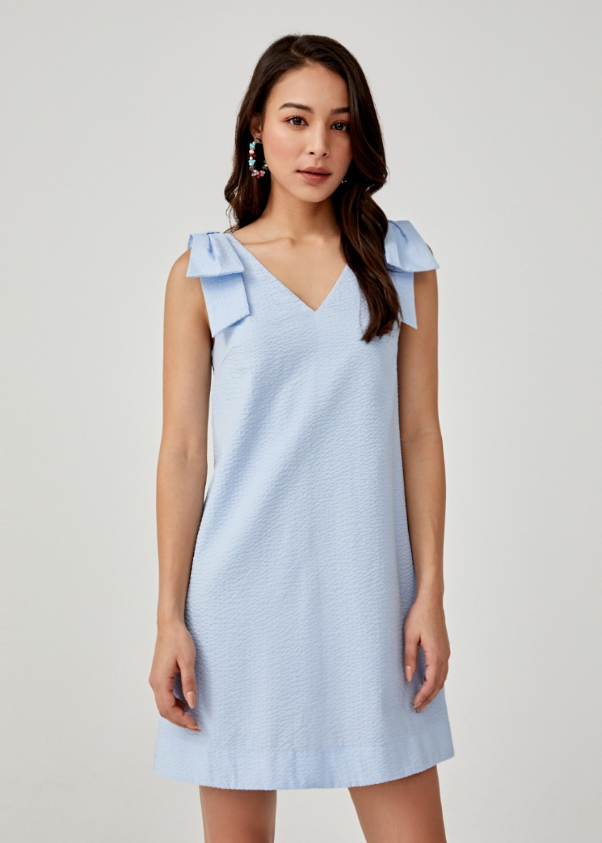 Ruthia V-neck Shift Dress