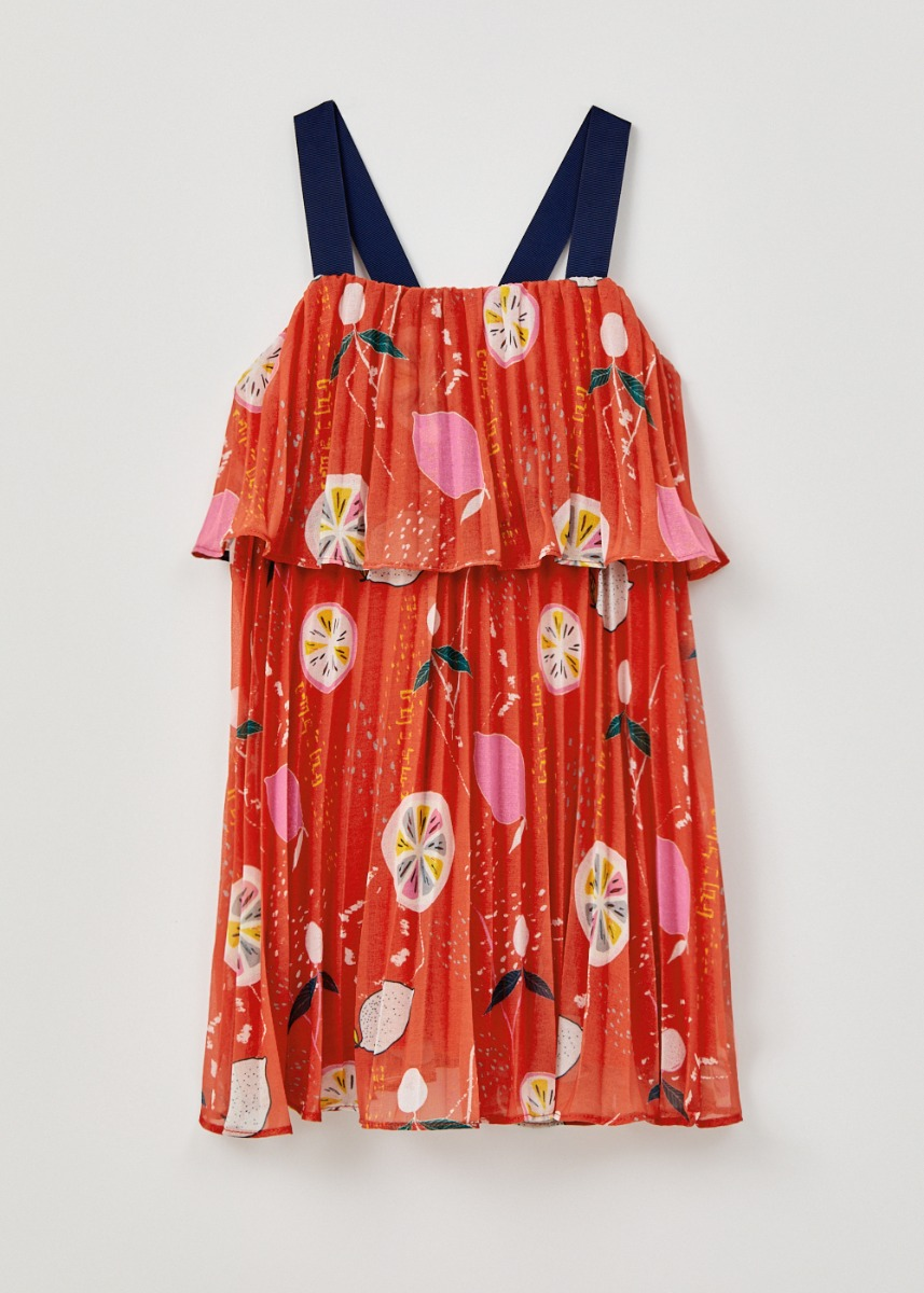 Yakira Pleated Camisole Dress in Tutti Frutti