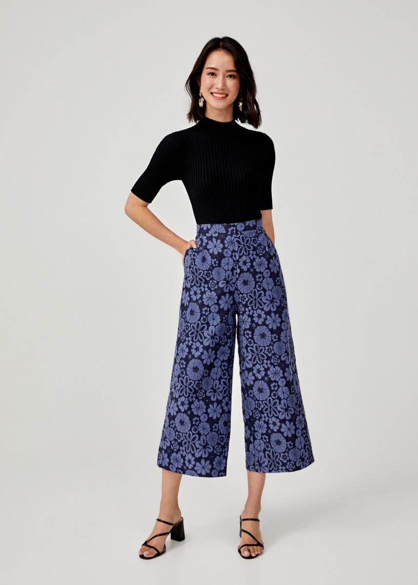 Caren Lace Wide Leg Culottes