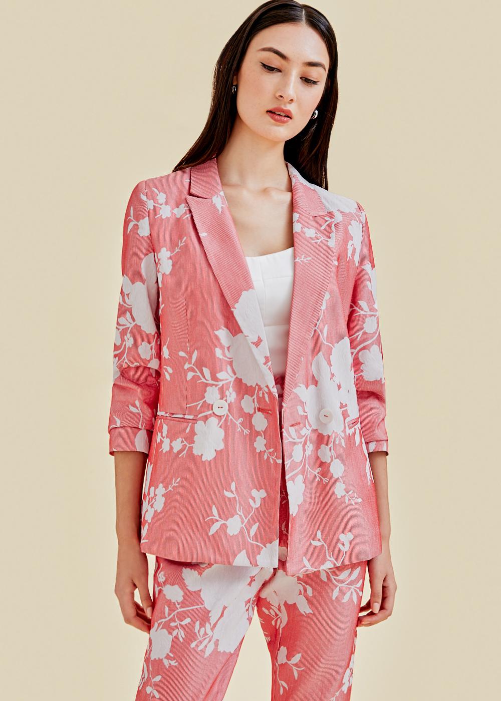 Aerith Floral Jacquard Blazer