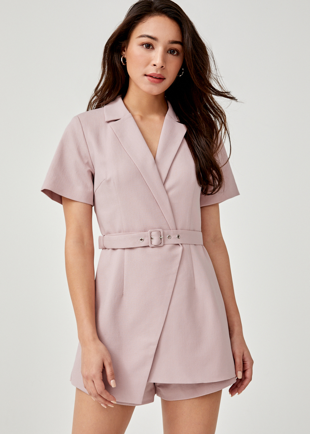 Allyn Belted Tailored Romper