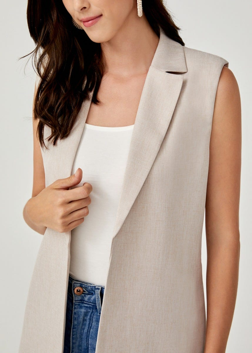 Althaea Belted Tailored Vest