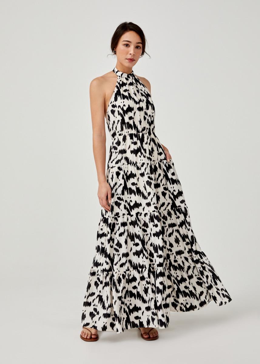 Malowa Halter Neck Maxi Dress