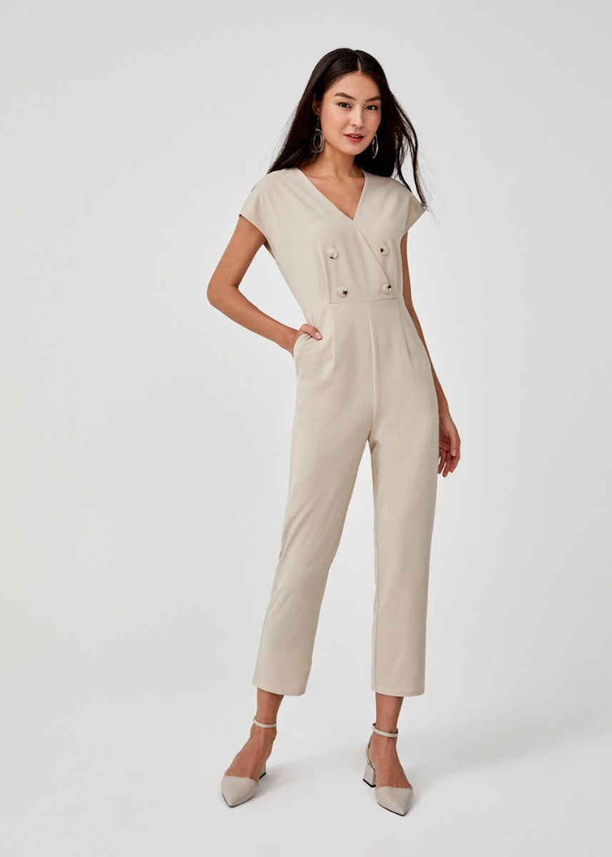 Edena Button Front Jumpsuit