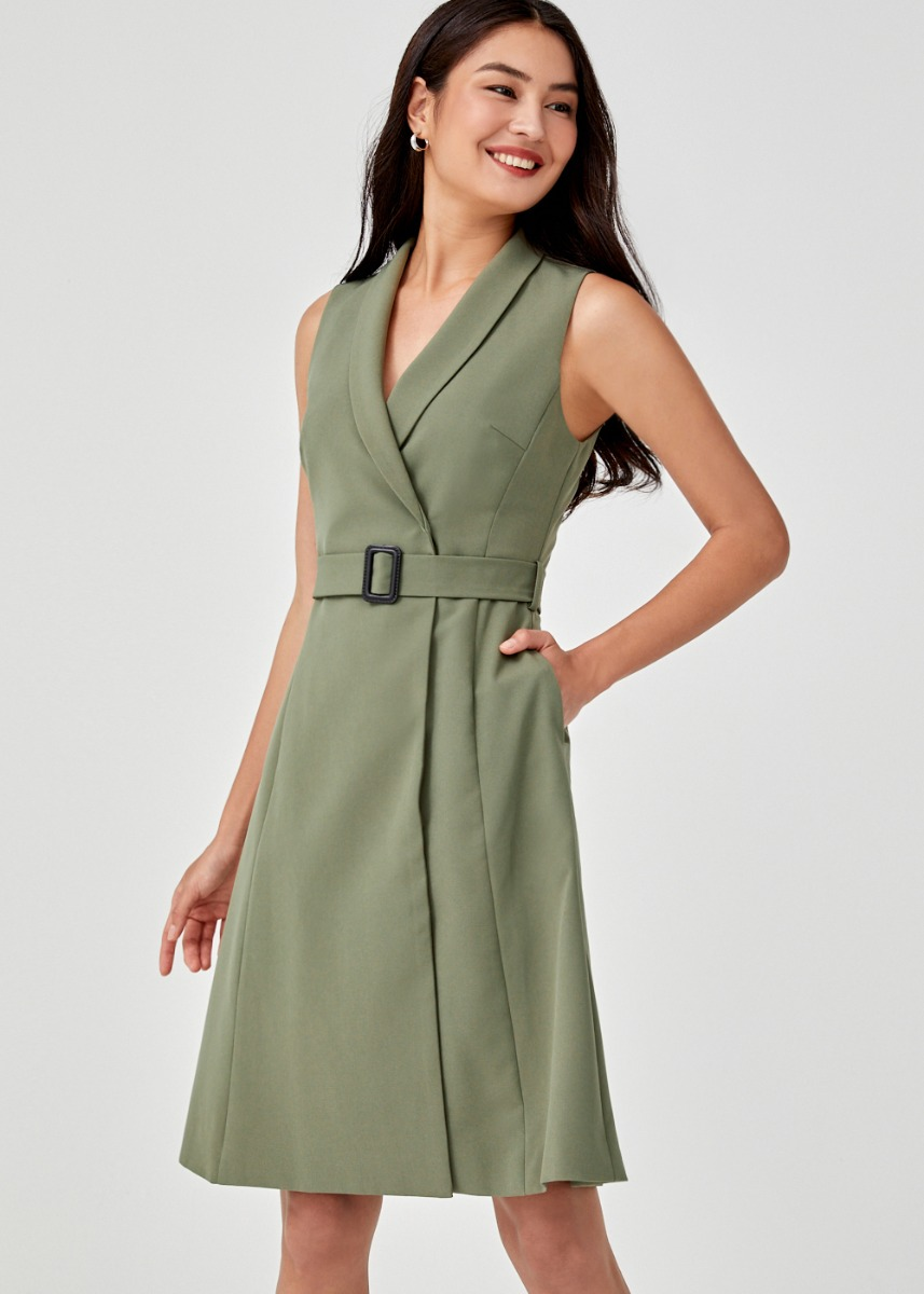Auralia Belted Vest Dress