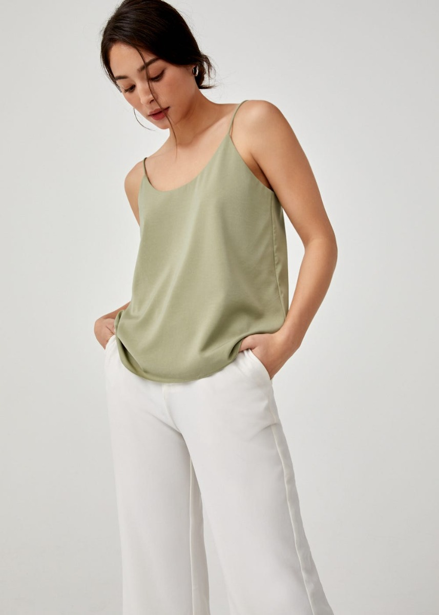 Iska Scoop Neck Camisole Top