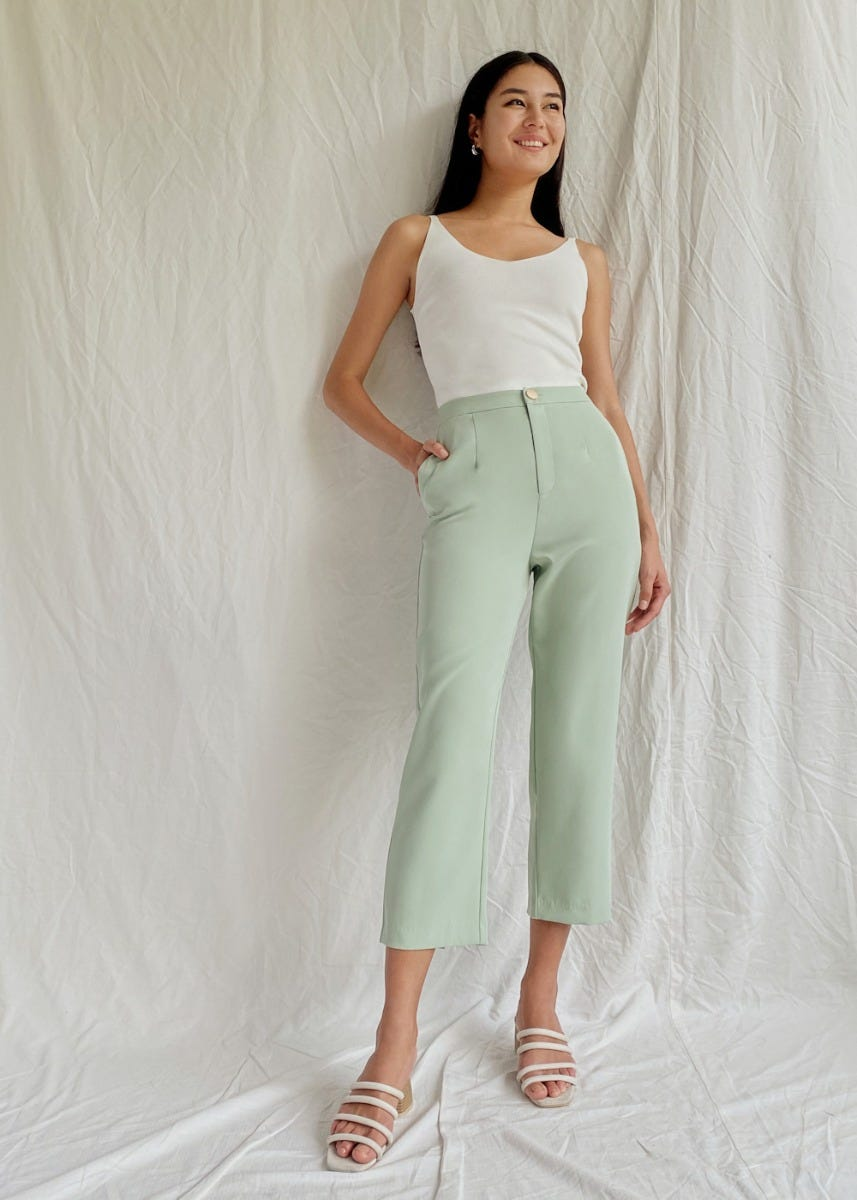 Bionca Cropped Peg Leg Pants