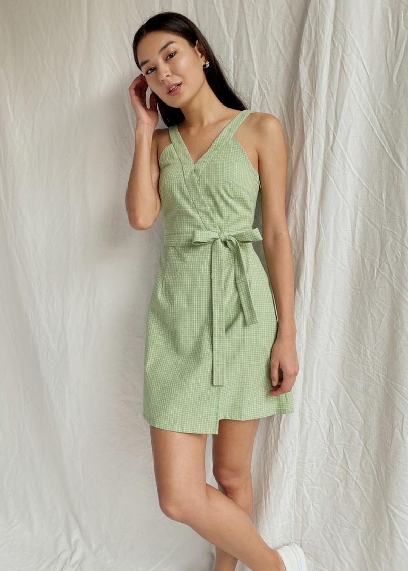 Aldine Tie Front A-line Dress