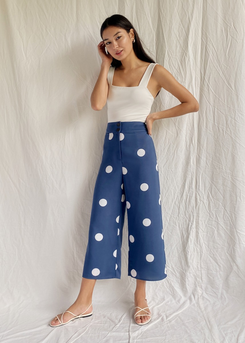 Josey Polka Dot Straight Leg Pants