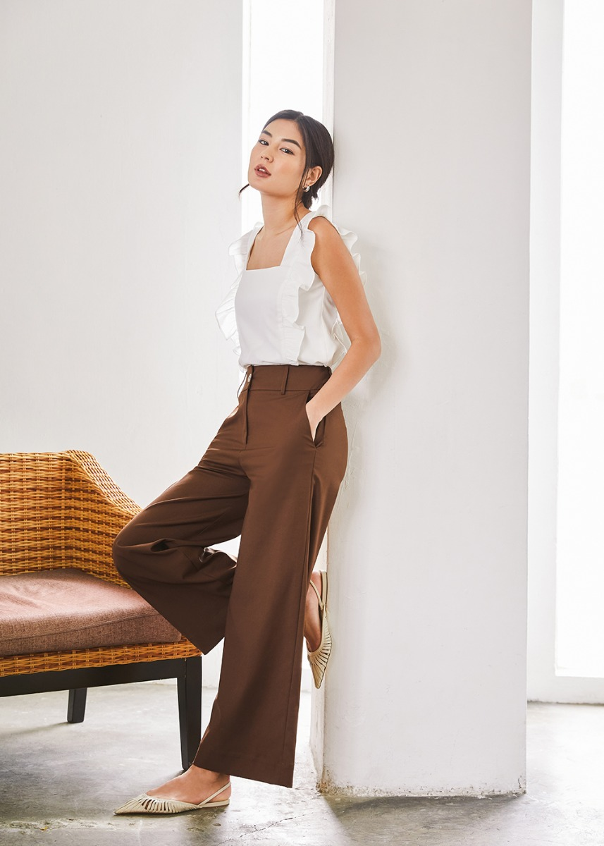 Bethanie Tailored Wide Leg Pants