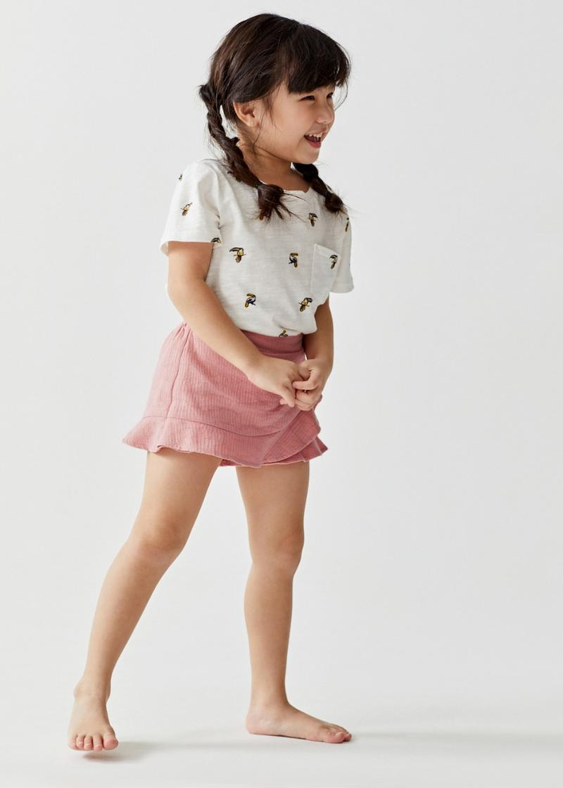 Maia Ruffle Textured Cotton Skorts