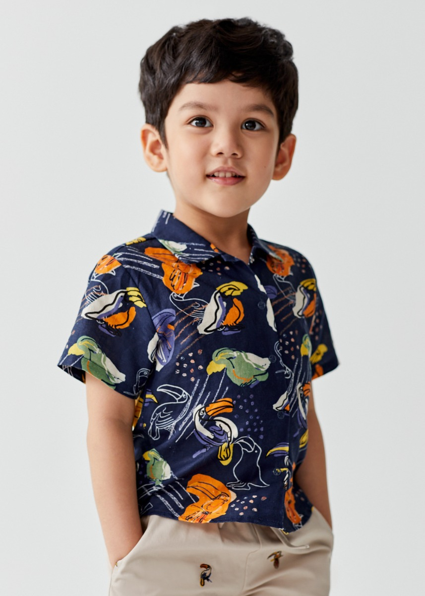 Arya Linen Shirt in Toucan Paradise