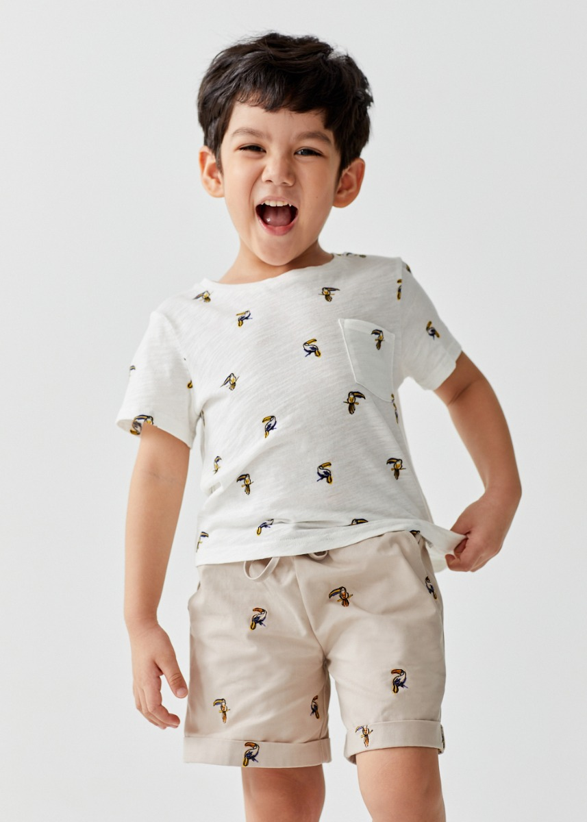Jamie Cotton T-shirt in Mini Toucan