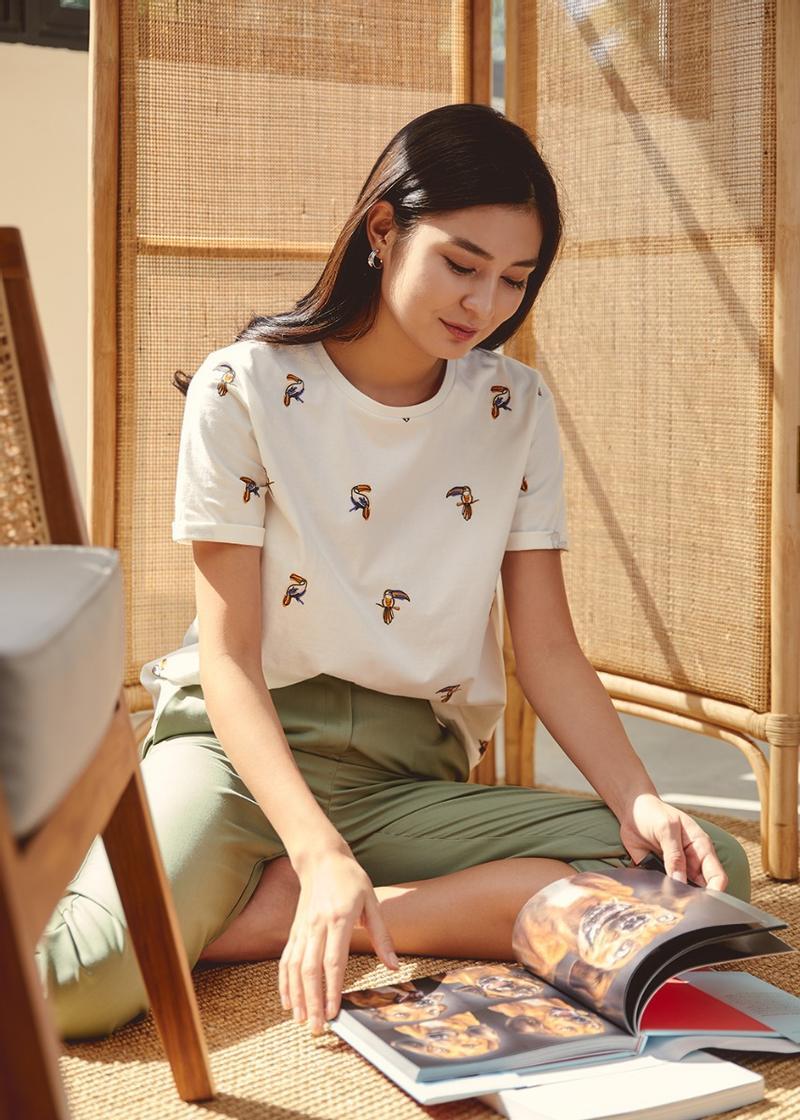 Dalia Cotton T-Shirt in Mini Toucan