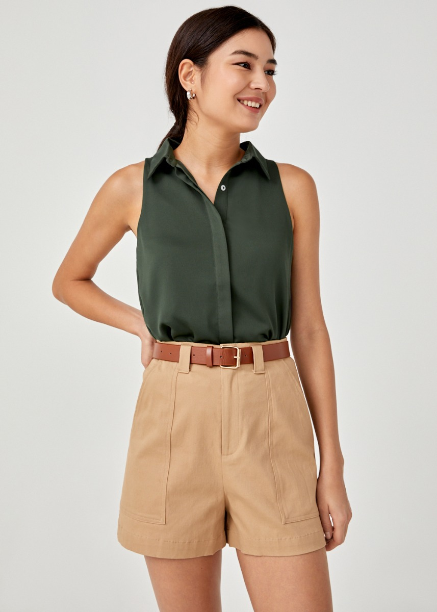 Pilar Collared Button-Down Blouse