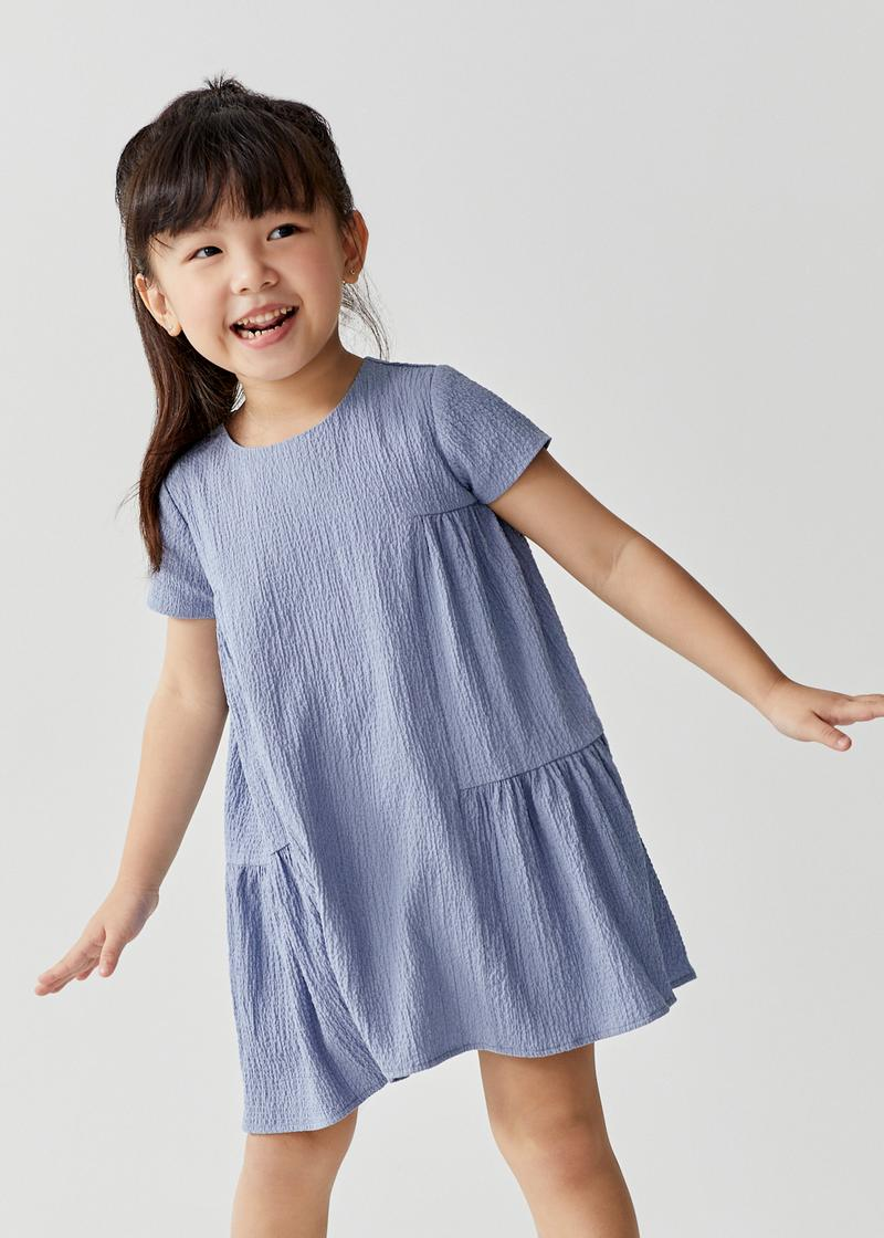 Byrnae Tiered Trapeze Crinkled Dress