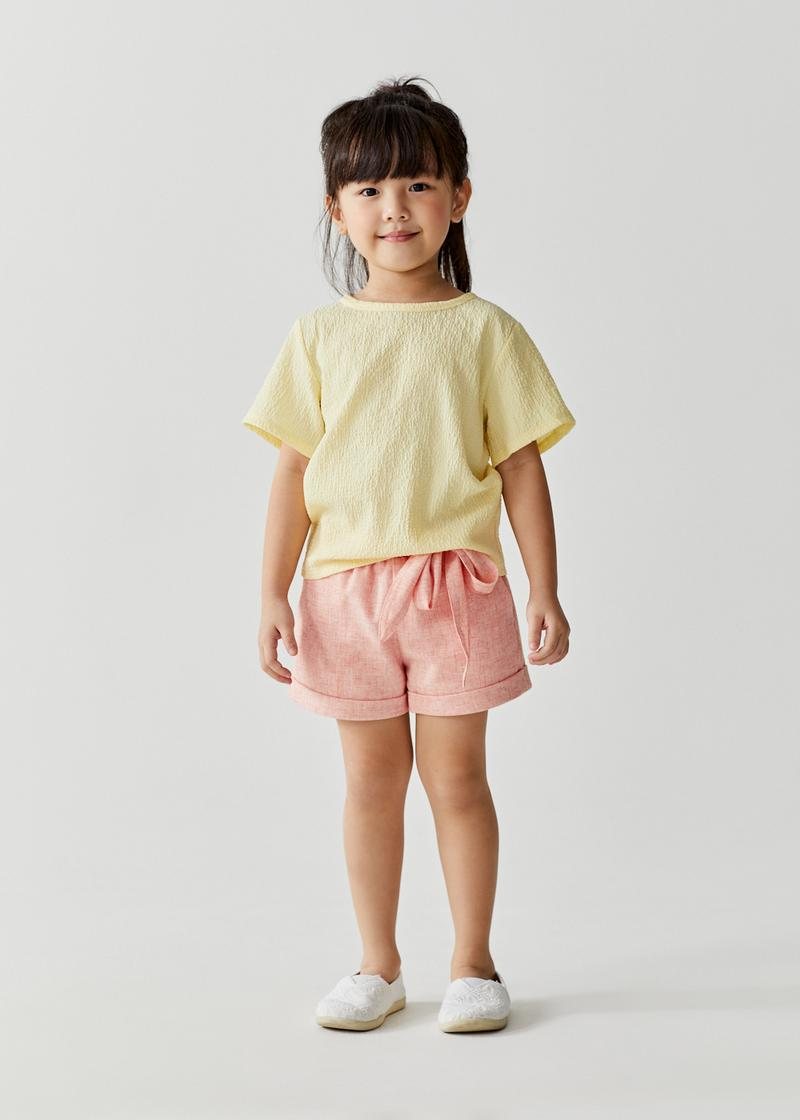 Miles Round Neck Relaxed Crinkled Tee