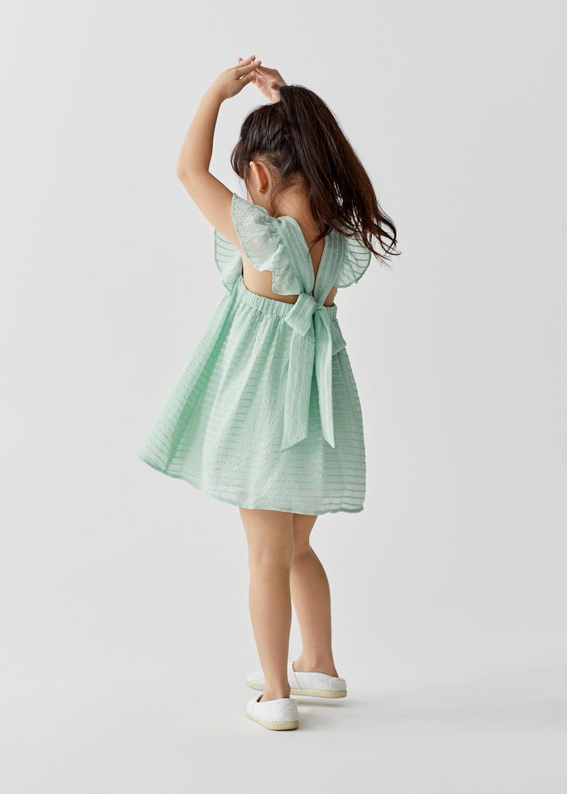 Linnett Tie Back Textured Dress