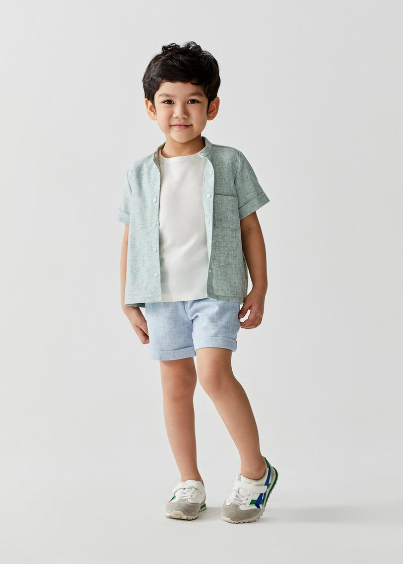 Cody Round Neck Relaxed Linen Tee