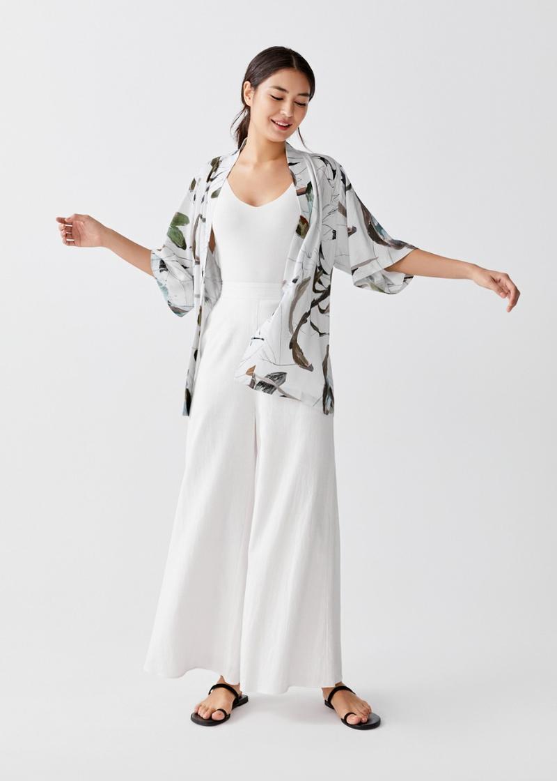 Owena Belted Kimono in Protea Bloom