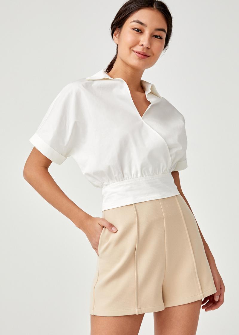 Marquesa Shirt Crop Top